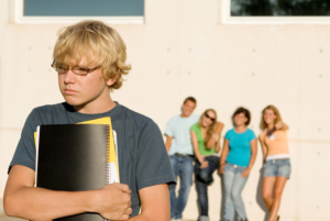 teen boy being ostracized